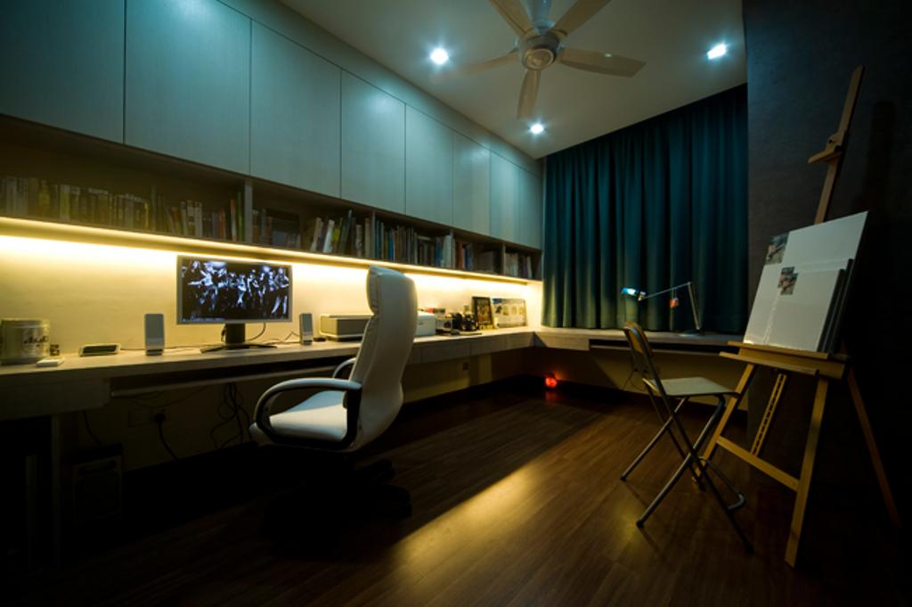 Modern, Landed, Study, Loke House Kajang, Interior Designer, Turn Design Interior, Contemporary, Chair, Furniture, Indoors, Interior Design