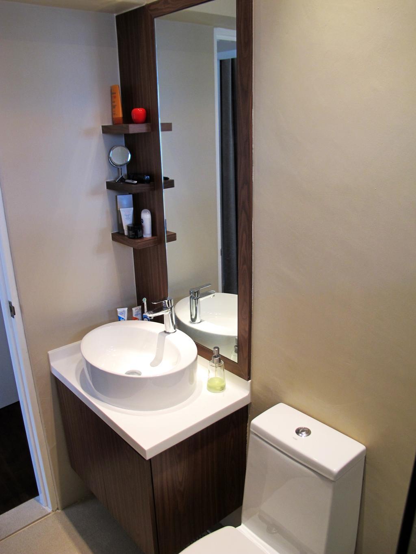 Eclectic, HDB, Bathroom, Jalan Membina, Interior Designer, Colourbox Interior, Sink, Toilet, Shelf