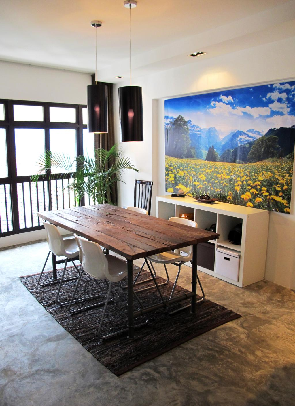 Eclectic, HDB, Dining Room, Jalan Membina, Interior Designer, Colourbox Interior, Chair, Furniture, Dining Table, Table, Arecaceae, Flora, Palm Tree, Plant, Tree, Appliance, Electrical Device, Oven, Building, House, Housing, Villa, Indoors, Interior Design, Room