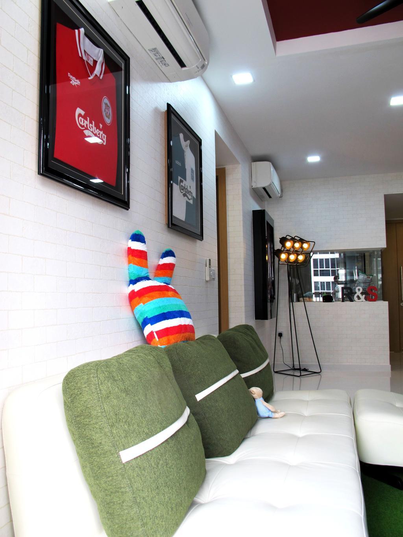 Eclectic, Condo, Living Room, Austville Residences, Interior Designer, Colourbox Interior