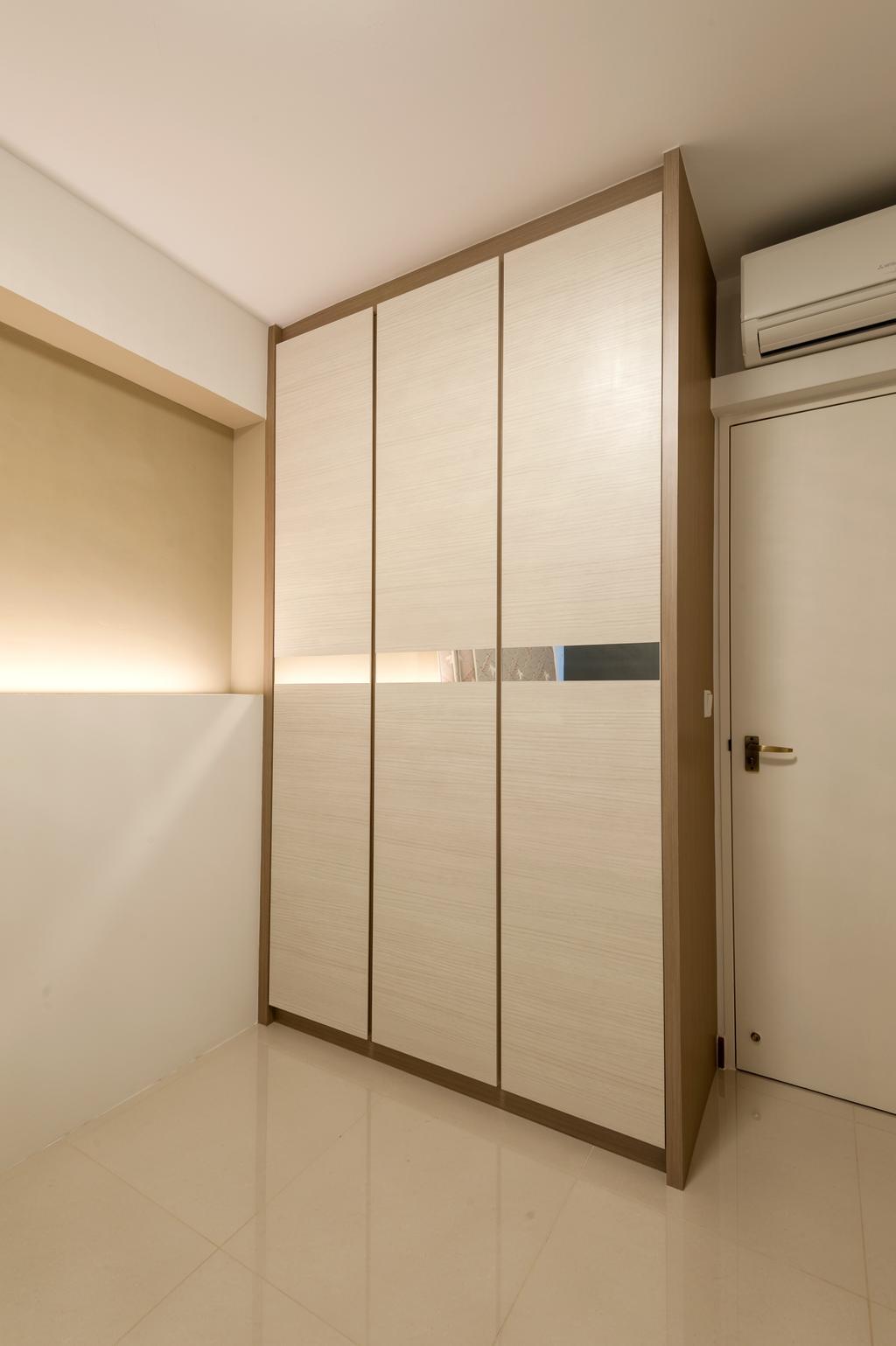 Modern, HDB, Bedroom, MacPherson Residency, Interior Designer, Le Interi, Door, Sliding Door
