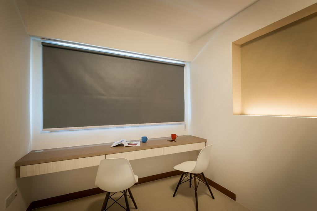 Modern, HDB, Bedroom, MacPherson Residency, Interior Designer, Le Interi, Desk, Furniture, Table, Chair, Dining Table