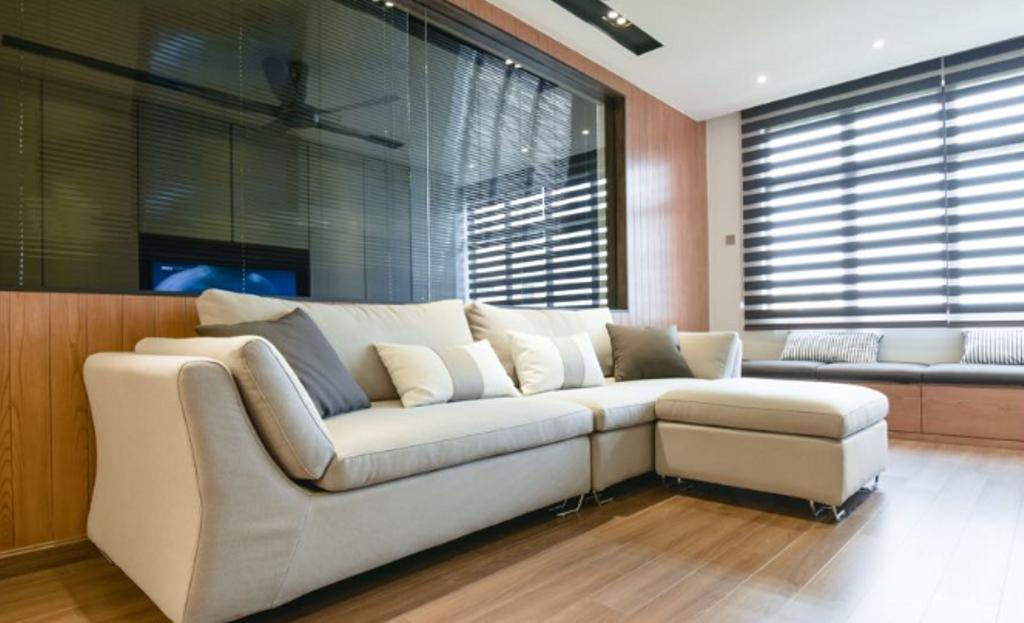 Modern, Condo, Living Room, Tiara Faber - Taman Desa, Interior Designer, Icon Factory, Contemporary, Couch, Furniture, Indoors, Room