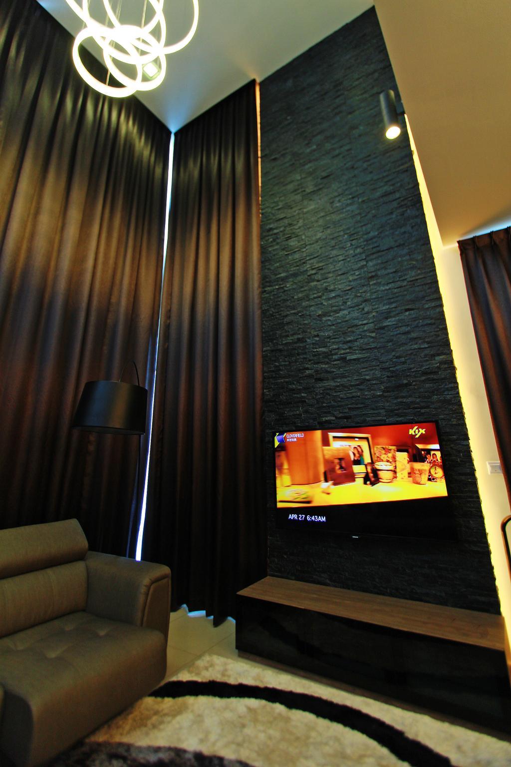 Modern, Landed, Living Room, Sean Residence, Interior Designer, Zyon Studio Sdn. Bhd., Photo Booth