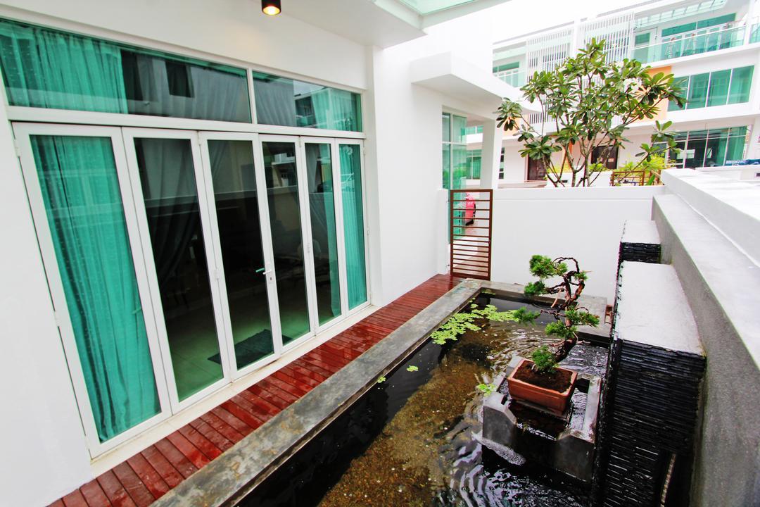 Sean Residence, Zyon Studio Sdn. Bhd., Modern, Garden, Landed, Bonsai, Flora, Jar, Plant, Potted Plant, Pottery, Tree, Vase