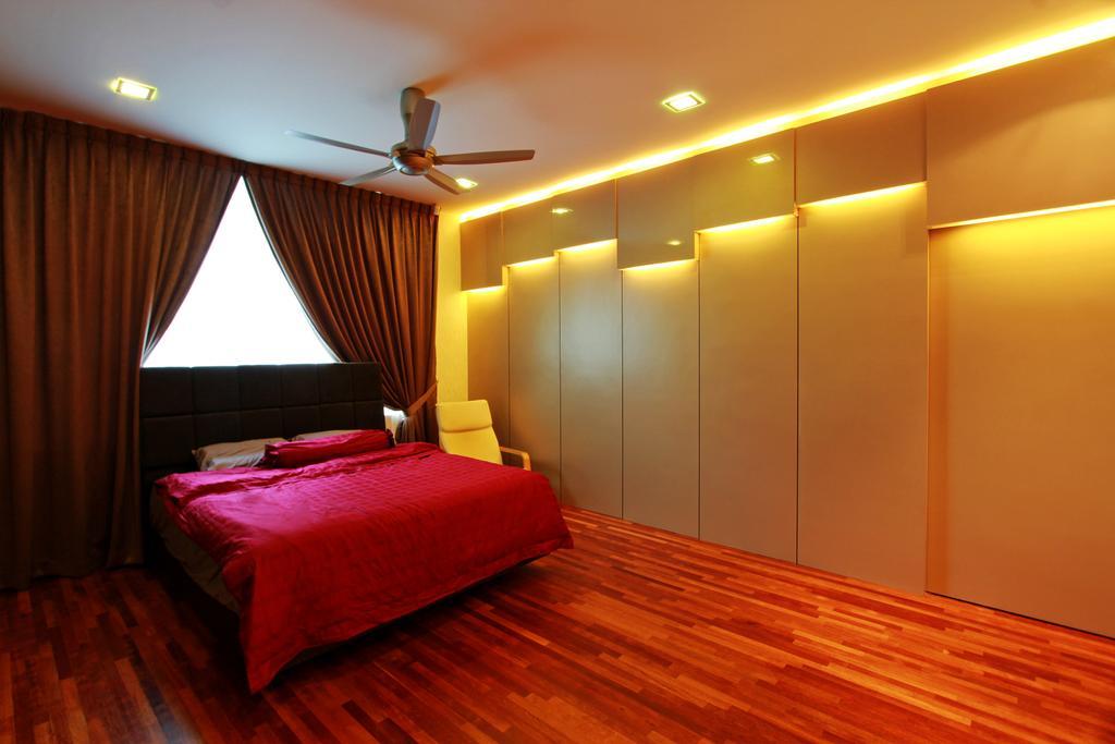 Modern, Landed, Bedroom, Sean Residence, Interior Designer, Zyon Studio Sdn. Bhd., Indoors, Room, Interior Design