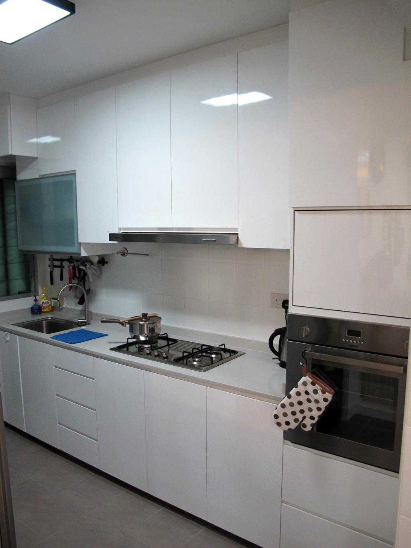 Scandinavian, HDB, Kitchen, Punggol Way, Interior Designer, Colourbox Interior, Indoors, Interior Design, Room