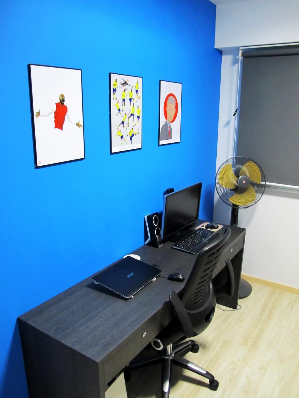 Scandinavian, HDB, Study, Punggol Way, Interior Designer, Colourbox Interior, Computer, Electronics, Laptop, Pc