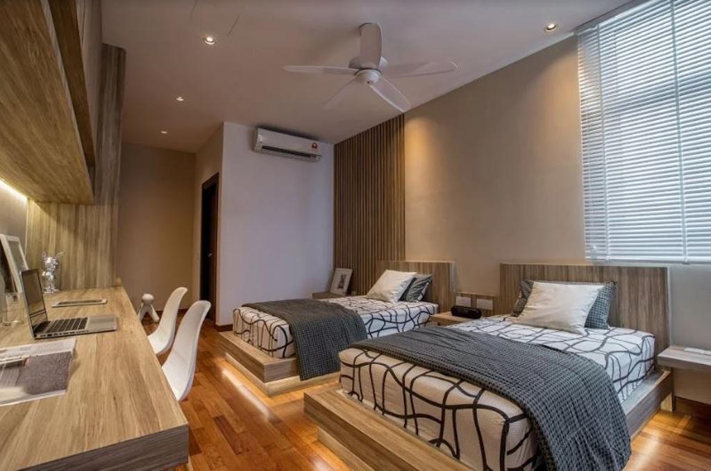 Modern, Landed, Bedroom, Setia Pearl Villa, Interior Designer, Nevermore Group, Granite, Indoors, Interior Design, Room, Apartment, Building, Housing, Loft