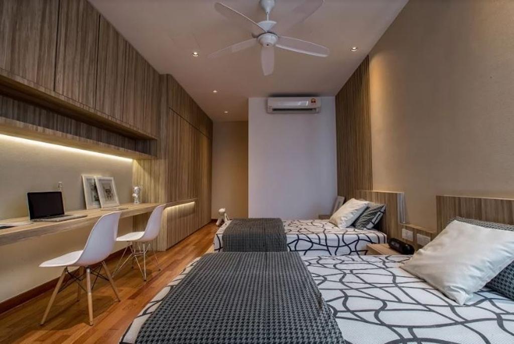 Modern, Landed, Bedroom, Setia Pearl Villa, Interior Designer, Nevermore Group, Indoors, Room
