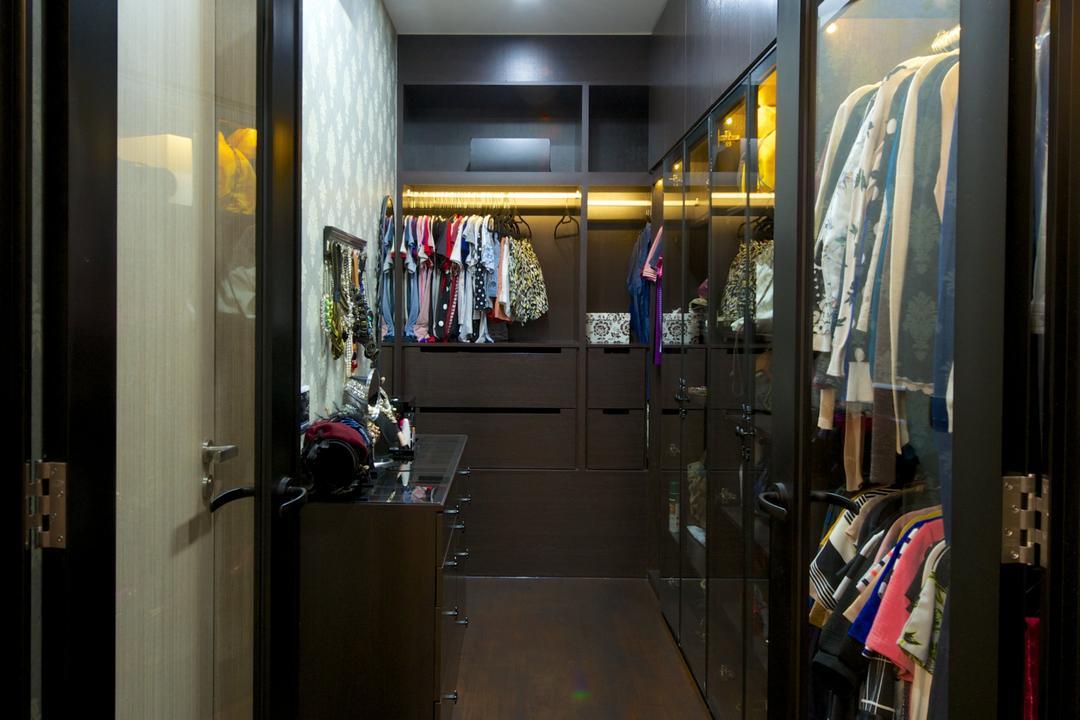 Flamingo Valley (Block 478), Dyel Design, Contemporary, Bedroom, Condo, Wardrobe, See Through Door, Open Wardrobe, Wood
