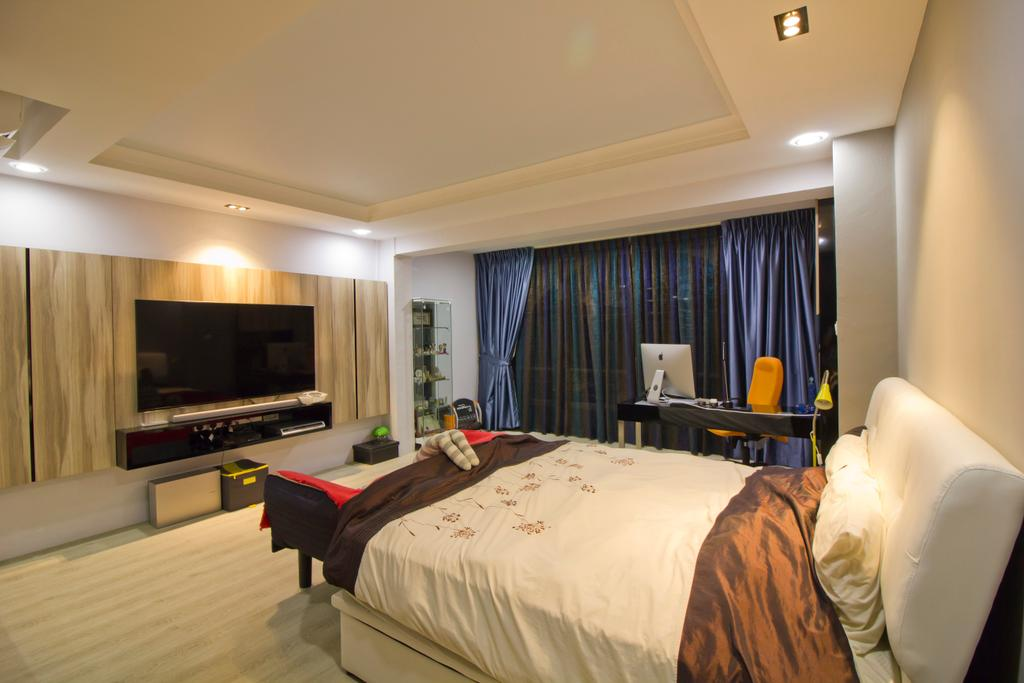 Modern, Condo, Hacienda Grove, Interior Designer, MET Interior, Bed, Furniture, Indoors, Room, Bedroom, Interior Design