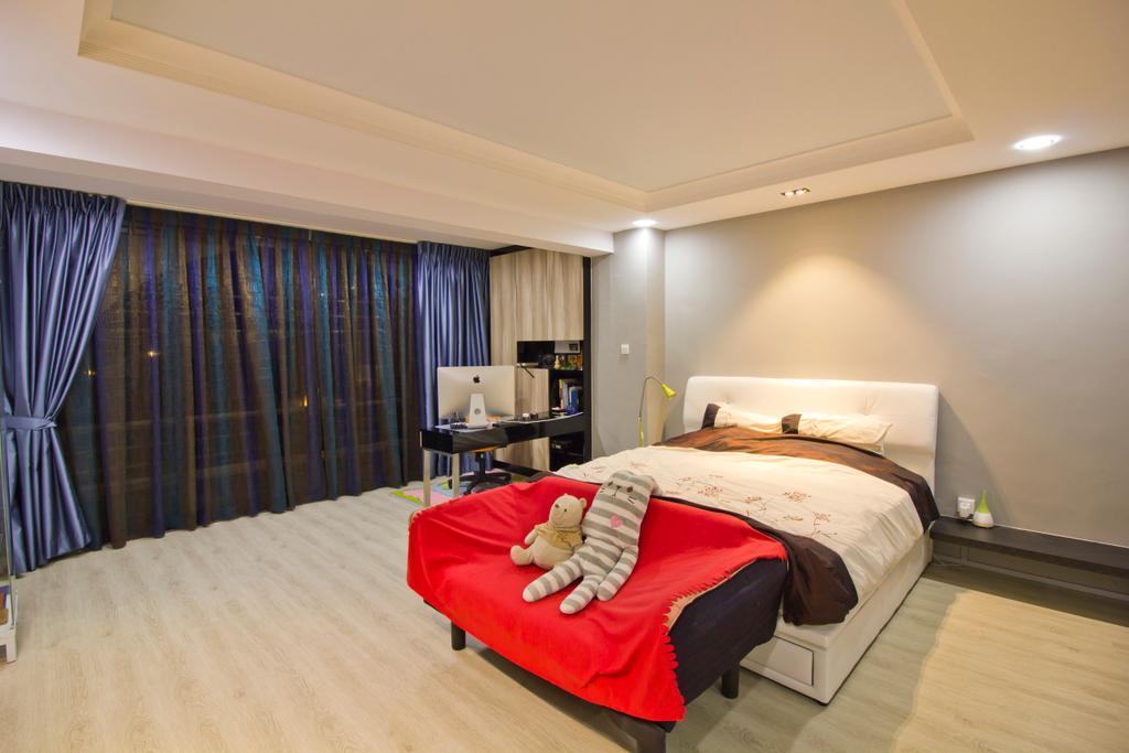 Modern, Condo, Bedroom, Hacienda Grove, Interior Designer, MET Interior, Bed, Furniture, Curtain, Home Decor, Molding, Indoors, Interior Design, Room