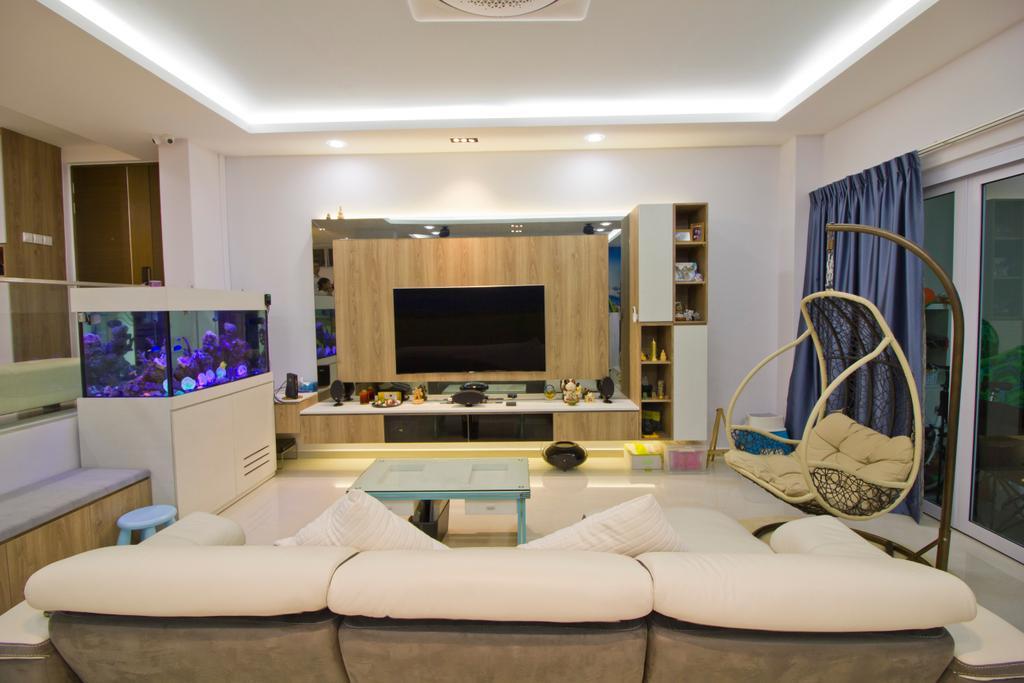 Modern, Condo, Living Room, Hacienda Grove, Interior Designer, MET Interior, Couch, Furniture, Indoors, Room, Chair, Interior Design