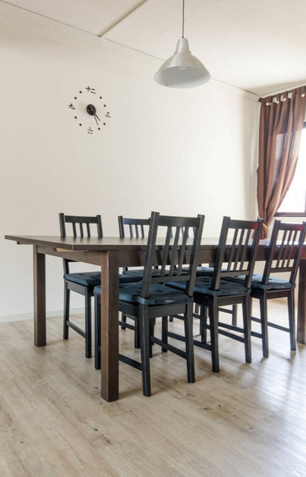 Modern, HDB, Dining Room, Woodlands (Block 850), Interior Designer, MET Interior, Scandinavian, Dining Table, Furniture, Table, Chair