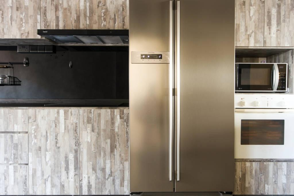 Modern, HDB, Kitchen, Woodlands (Block 850), Interior Designer, MET Interior, Scandinavian, Hardwood, Stained Wood, Wood