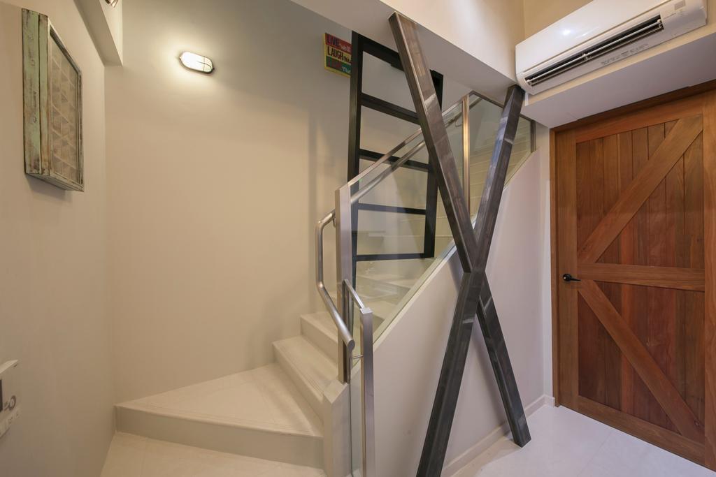 Industrial, Condo, Living Room, #1 Loft, Interior Designer, Aart Boxx Interior, Banister, Handrail