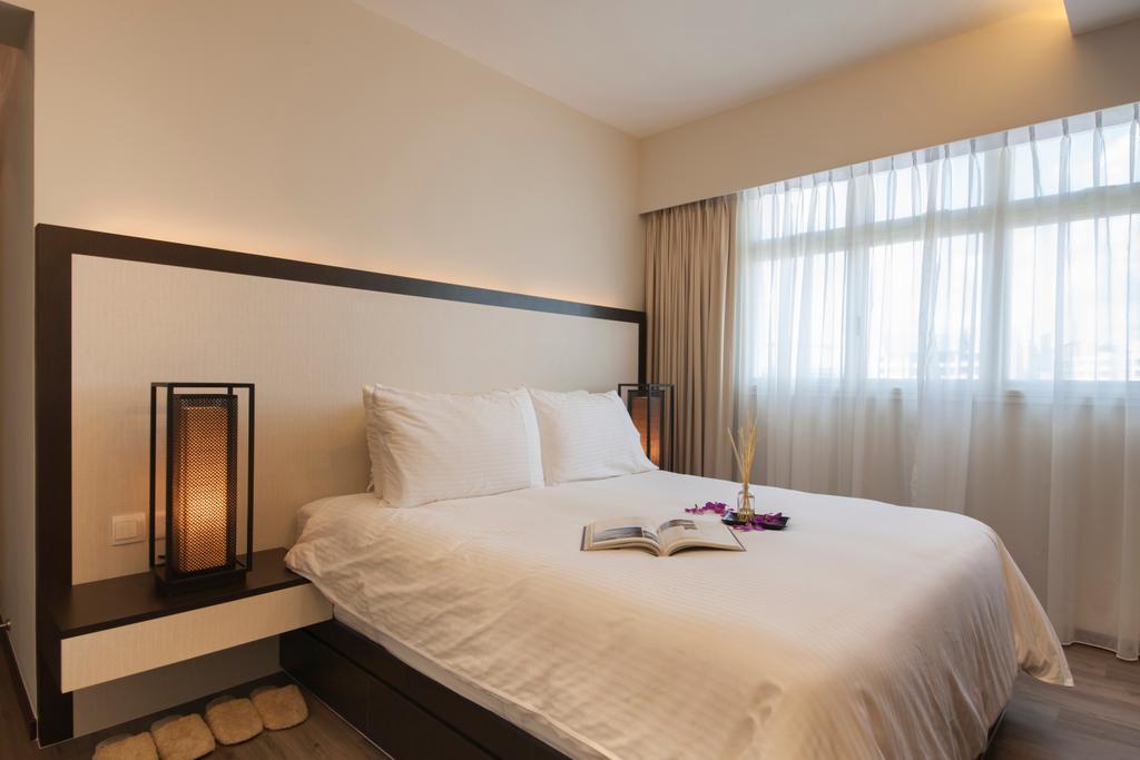 Scandinavian, HDB, Bedroom, Punggol Drive (Block 663B), Interior Designer, Aart Boxx Interior, Bed, Furniture, Indoors, Interior Design, Room