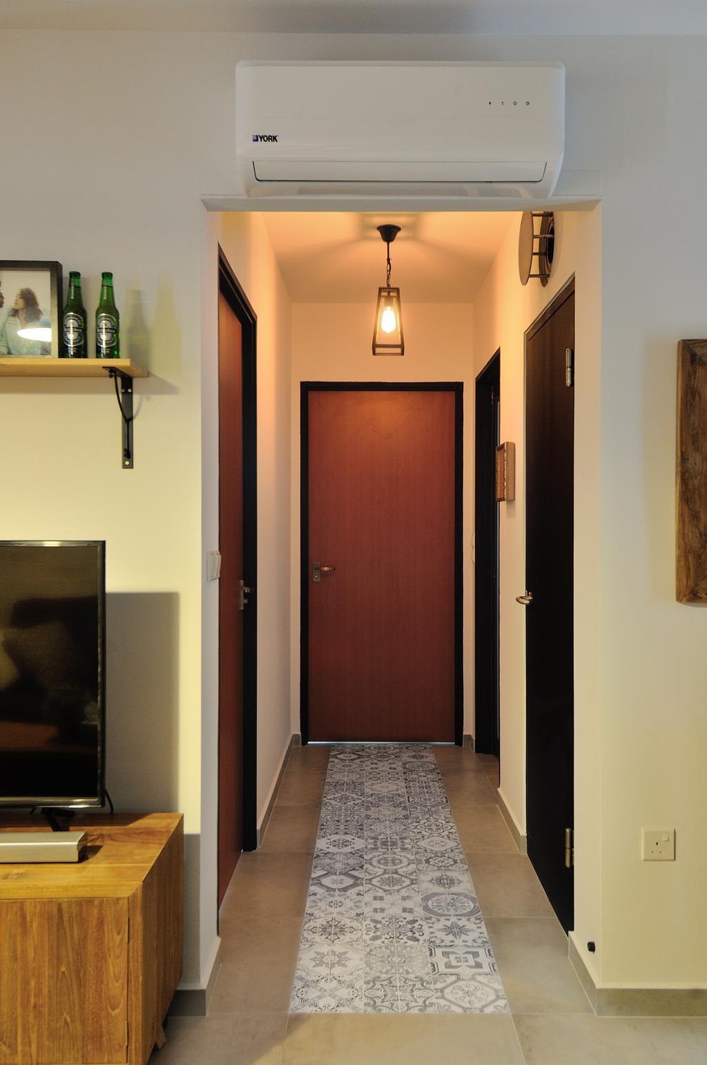 Industrial, HDB, Living Room, 57 Teban View, Interior Designer, Aart Boxx Interior, Scandinavian, Shelf