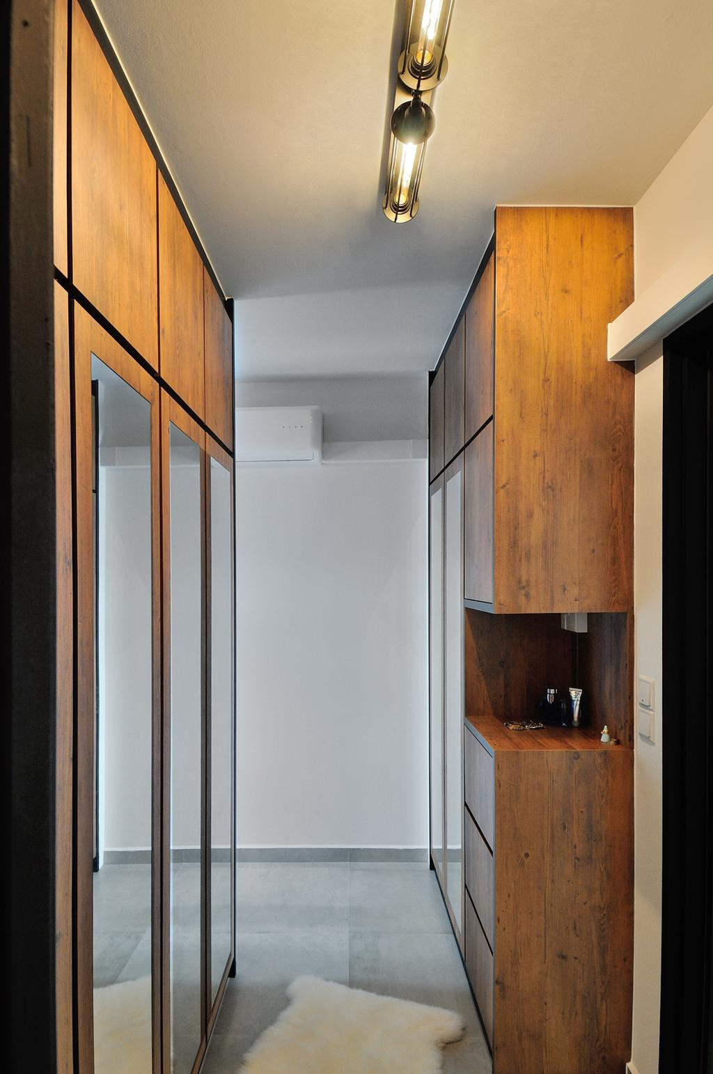 Industrial, HDB, Bedroom, 57 Teban View, Interior Designer, Aart Boxx Interior, Scandinavian