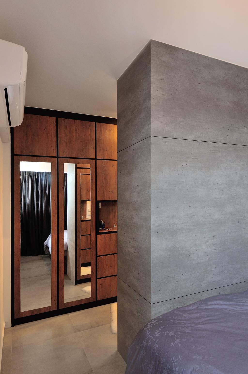Industrial, HDB, Bedroom, 57 Teban View, Interior Designer, Aart Boxx Interior, Scandinavian