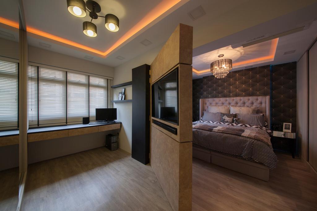 Scandinavian, HDB, Bedroom, Tampines Avenue 8 (Block 869B), Interior Designer, Le Interi, Indoors, Interior Design, Room
