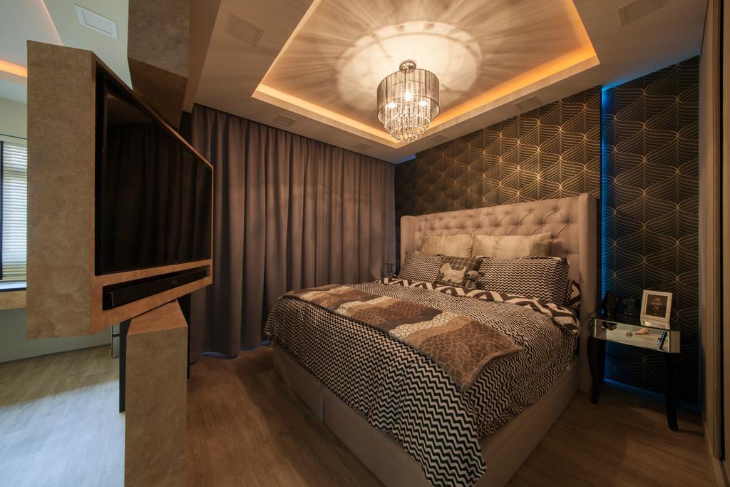 Scandinavian, HDB, Bedroom, Tampines Avenue 8 (Block 869B), Interior Designer, Le Interi, Chair, Furniture, Indoors, Interior Design, Room