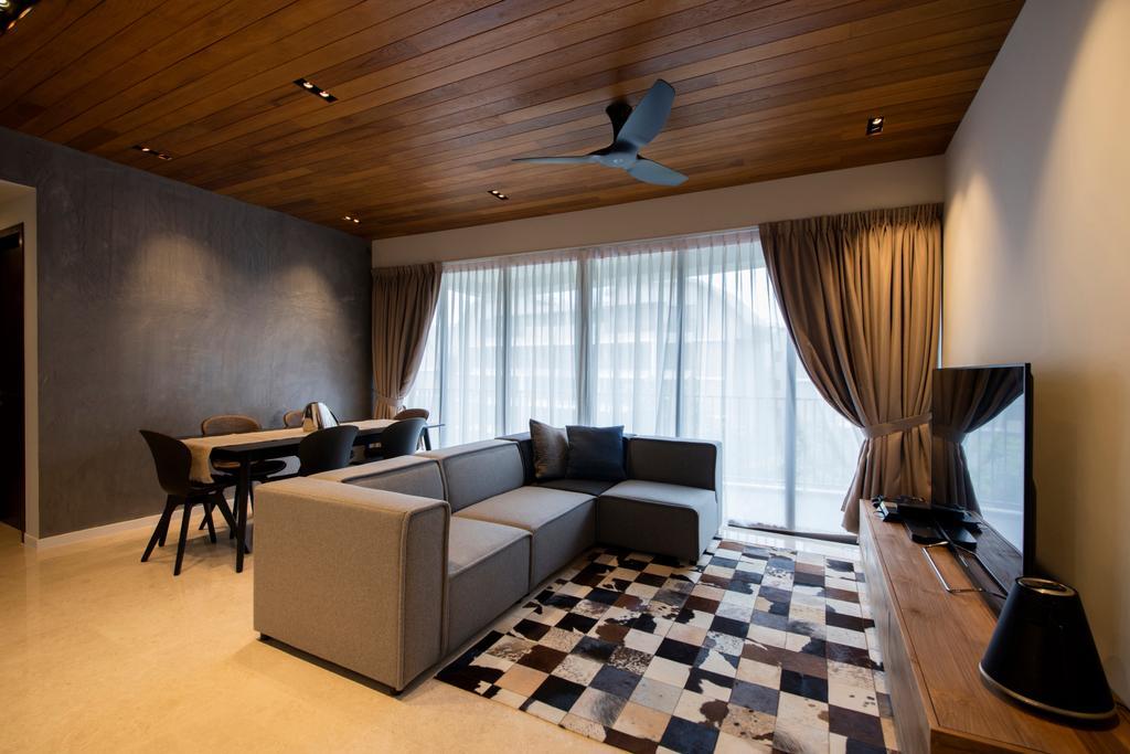 Modern, Condo, Living Room, Archipelago, Interior Designer, Schemacraft, Contemporary, Couch, Furniture, Lamp, Lampshade, Indoors, Interior Design