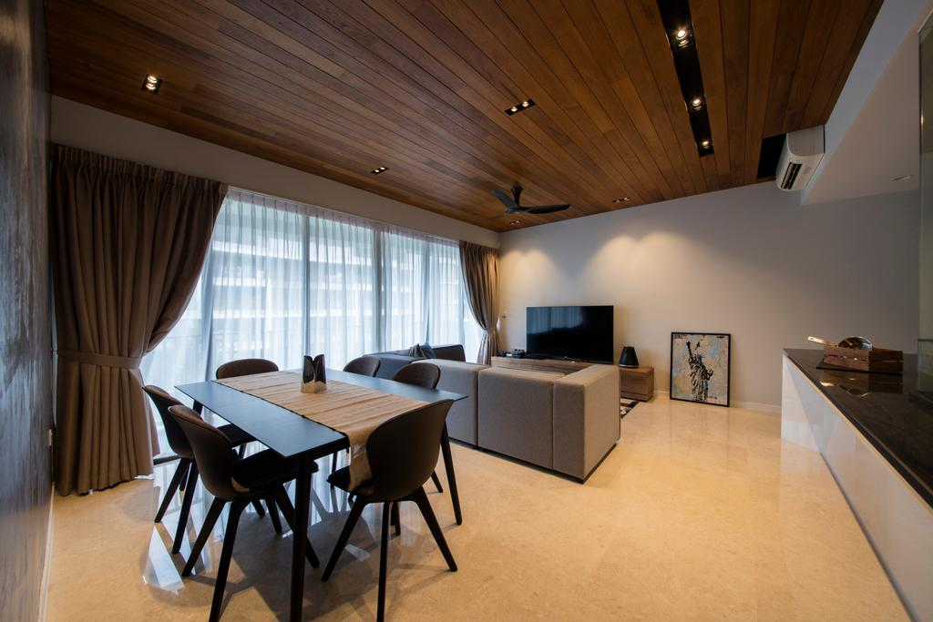Modern, Condo, Dining Room, Archipelago, Interior Designer, Schemacraft, Contemporary, Dining Table, Furniture, Table, Chair, Indoors, Interior Design, Room, Conference Room, Meeting Room