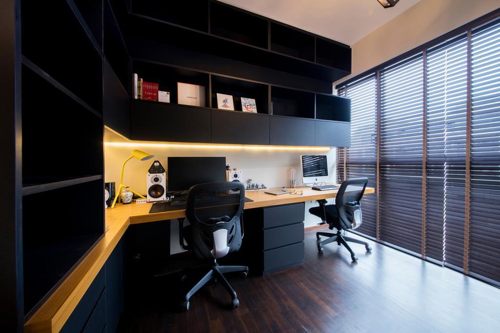 Modern, Condo, Study, Archipelago, Interior Designer, Schemacraft, Contemporary, Desk, Furniture, Table, Indoors, Interior Design