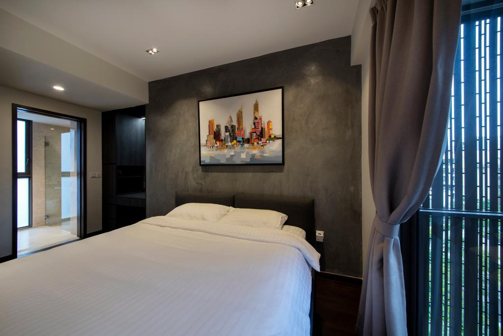 Modern, Condo, Living Room, Archipelago, Interior Designer, Schemacraft, Contemporary, Bed, Furniture, Bedroom, Indoors, Interior Design, Room, Closet, Wardrobe
