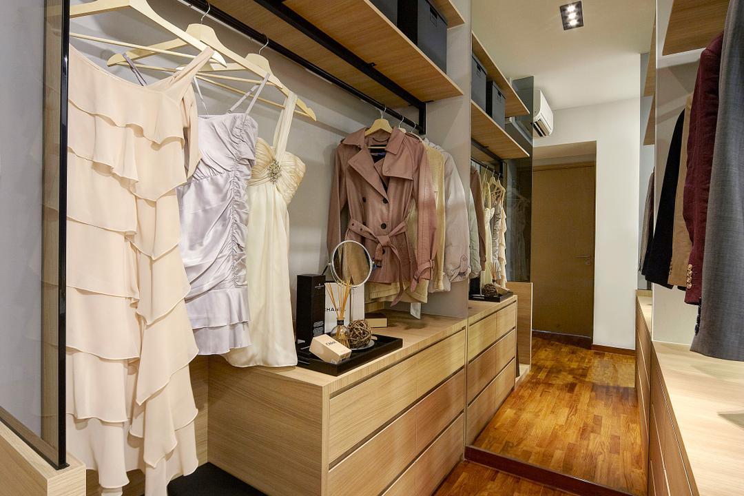 Twin Waterfalls, Notion of W, Contemporary, Modern, Bedroom, Condo, Coat Rack, Flooring