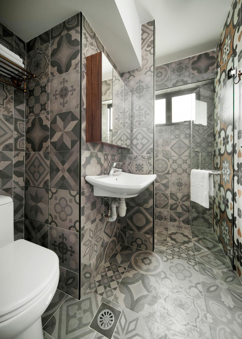 HDB, Bathroom, Dakota Crescent, Interior Designer, The Scientist, Indoors, Interior Design, Room, Curtain, Home Decor, Shower Curtain