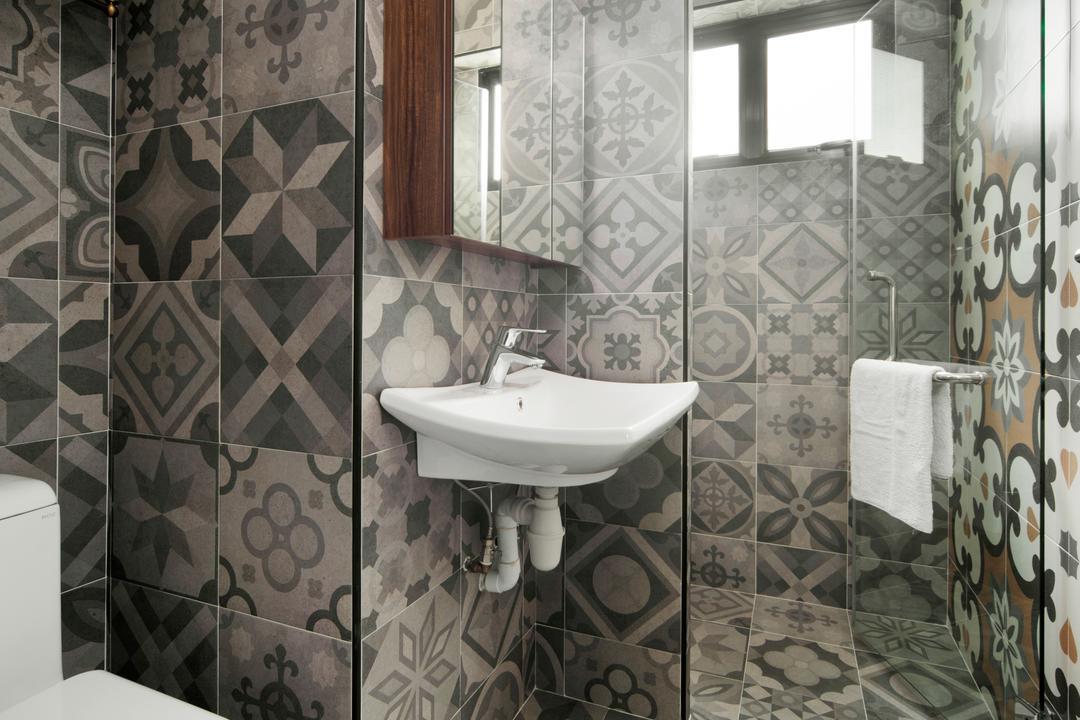 Dakota Crescent, The Scientist, Bathroom, HDB, Indoors, Interior Design, Room, Curtain, Home Decor, Shower Curtain