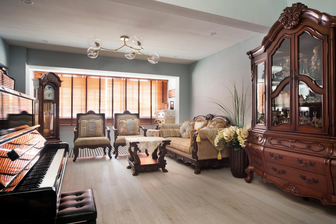 Dakota Crescent, The Scientist, Living Room, HDB, Flora, Jar, Plant, Potted Plant, Pottery, Vase, Furniture, Cabinet, China Cabinet, Indoors, Room
