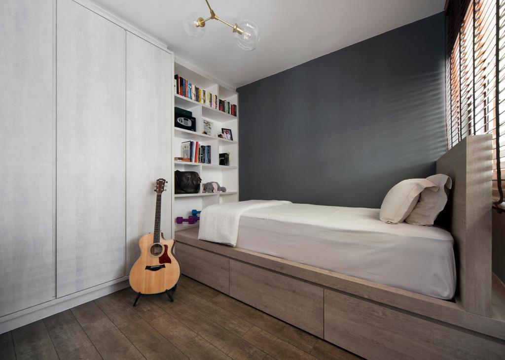HDB, Bedroom, Dakota Crescent, Interior Designer, The Scientist, Indoors, Interior Design, Couch, Furniture, Bed