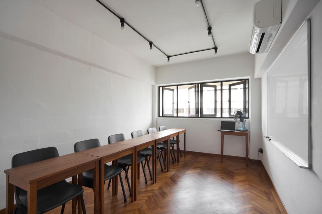 Eclectic, HDB, Study, Serangoon Avenue 2 (Block 310), Interior Designer, The Scientist, Retro, Dining Table, Furniture, Table, Chair, Flooring, Building, Housing, Indoors, Loft