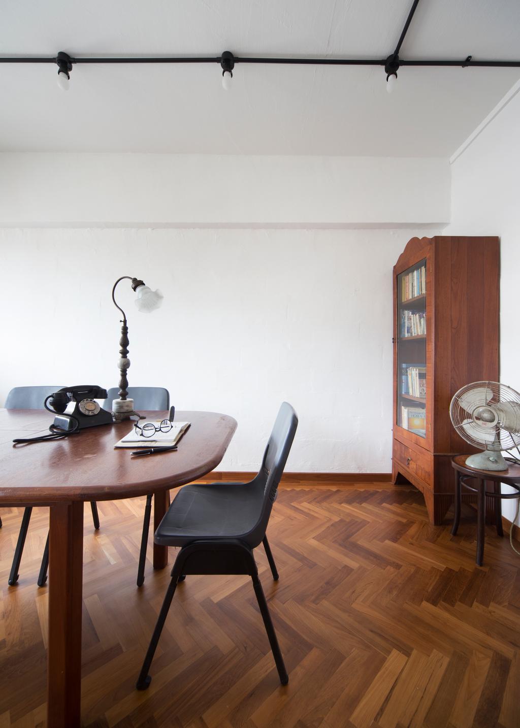 Eclectic, HDB, Dining Room, Serangoon Avenue 2 (Block 310), Interior Designer, The Scientist, Retro, Chair, Furniture, Dining Table, Table, Indoors, Interior Design, Room