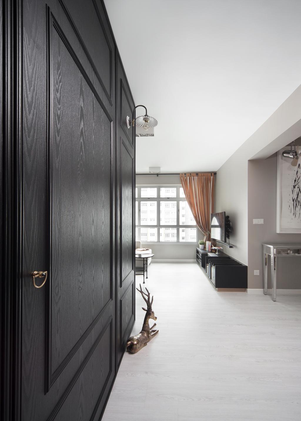 Transitional, HDB, Living Room, Rivervale Crescent (Block 162B), Interior Designer, The Scientist, Indoors, Interior Design, Kitchen, Room