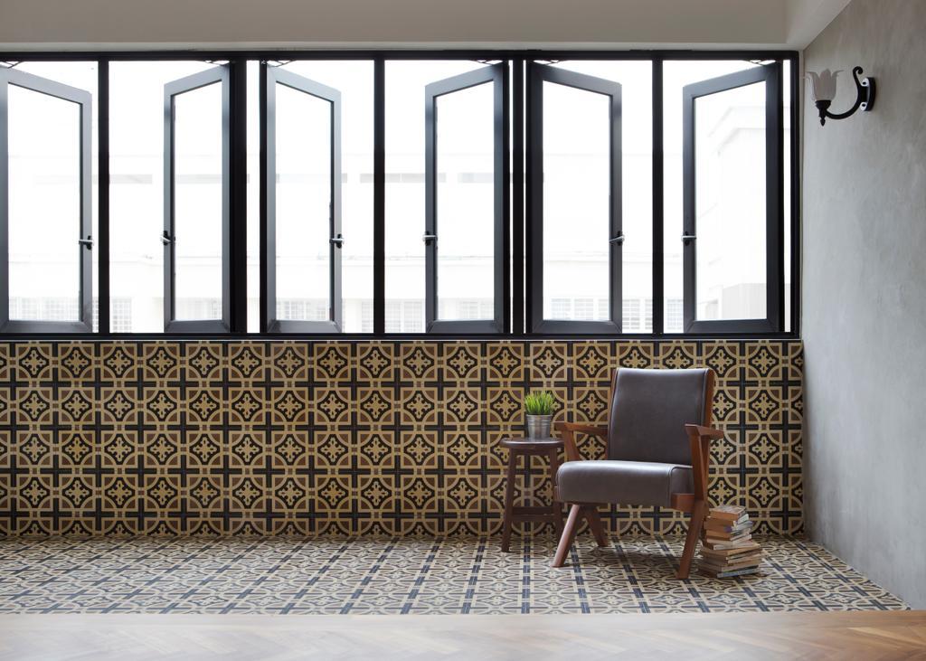 Eclectic, HDB, Balcony, Serangoon Avenue 2 (Block 310), Interior Designer, The Scientist, Retro, Chair, Furniture, Door, Folding Door
