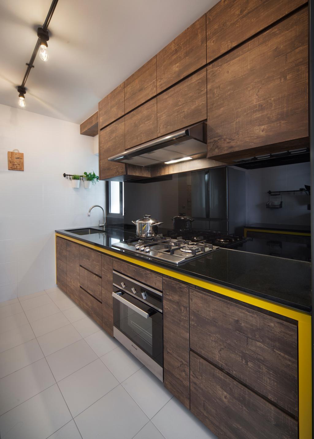 Transitional, HDB, Kitchen, Skyville@Dawson (Block 88), Interior Designer, The Scientist, Indoors, Interior Design, Room, Appliance, Electrical Device, Oven