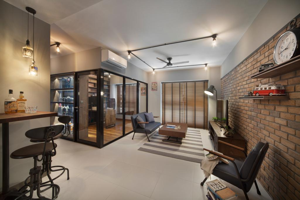 Transitional, HDB, Living Room, Skyville@Dawson (Block 88), Interior Designer, The Scientist, Chair, Furniture, Indoors, Interior Design