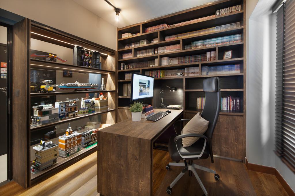 Transitional, HDB, Study, Skyville@Dawson (Block 88), Interior Designer, The Scientist, Chair, Furniture, Indoors, Interior Design