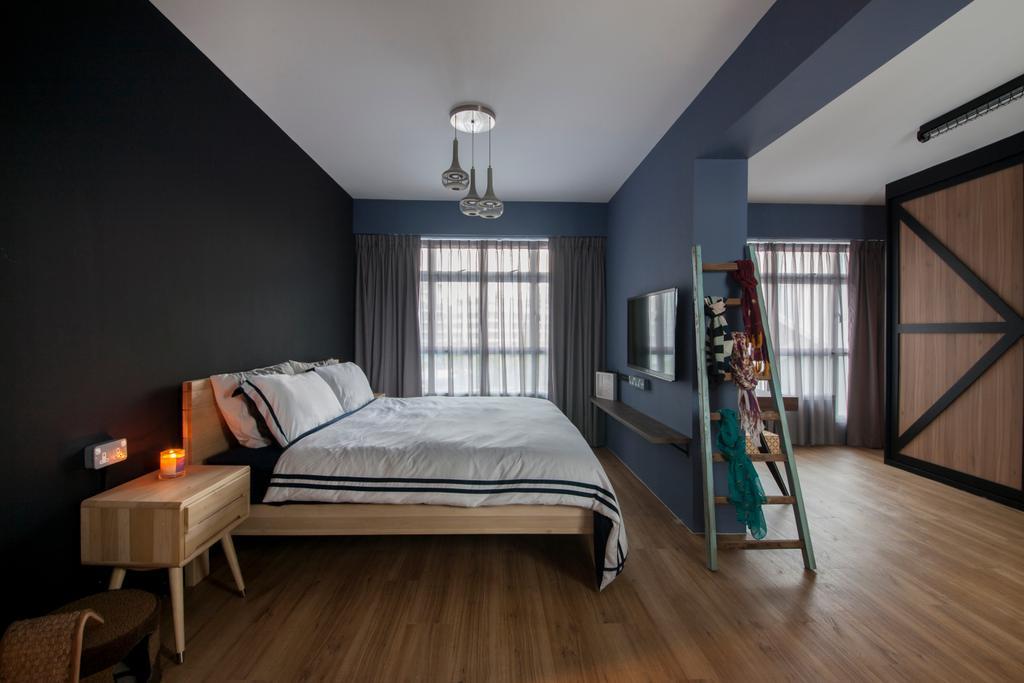 Eclectic, HDB, Bedroom, Kallang Trivista, Interior Designer, Free Space Intent, Building, Housing, Indoors, Loft, Interior Design, Room