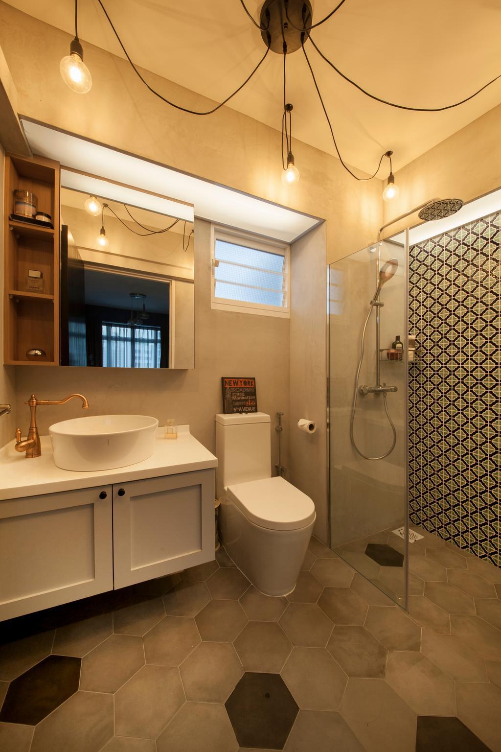 Eclectic, HDB, Bathroom, Kallang Trivista, Interior Designer, Free Space Intent, Indoors, Interior Design, Room, Plumbing, Appliance, Electrical Device, Oven