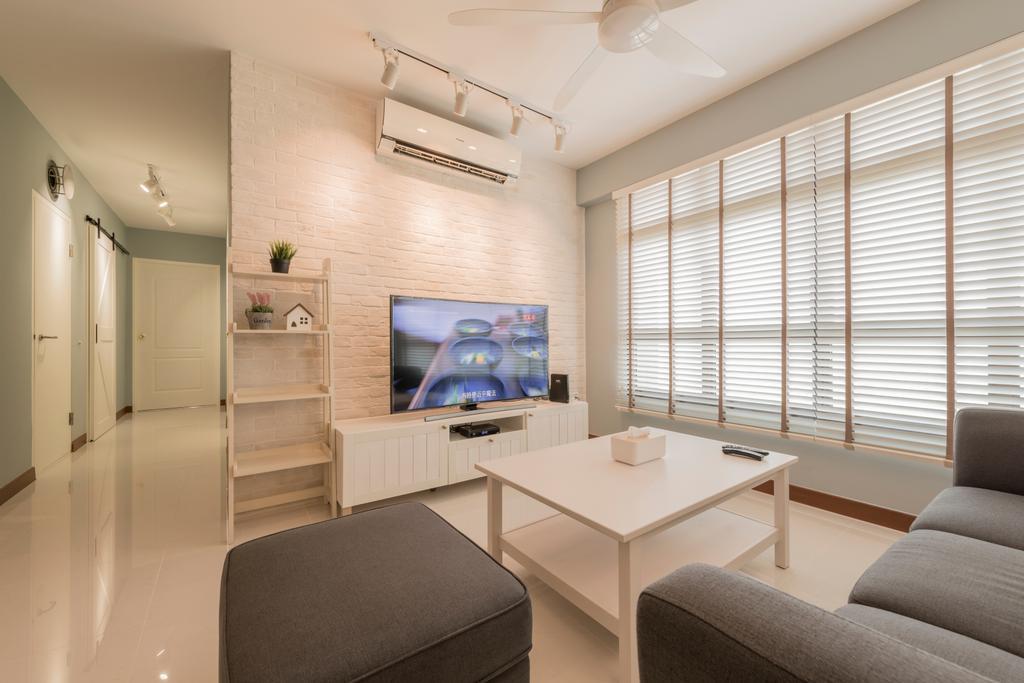 Scandinavian, HDB, Living Room, Keat Hong, Interior Designer, The Local INN.terior 新家室, Chair, Furniture, Couch, Indoors, Interior Design, Room