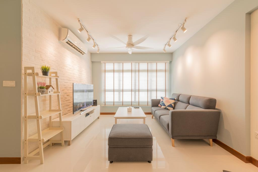 Scandinavian, HDB, Living Room, Keat Hong, Interior Designer, The Local INN.terior 新家室, Indoors, Interior Design