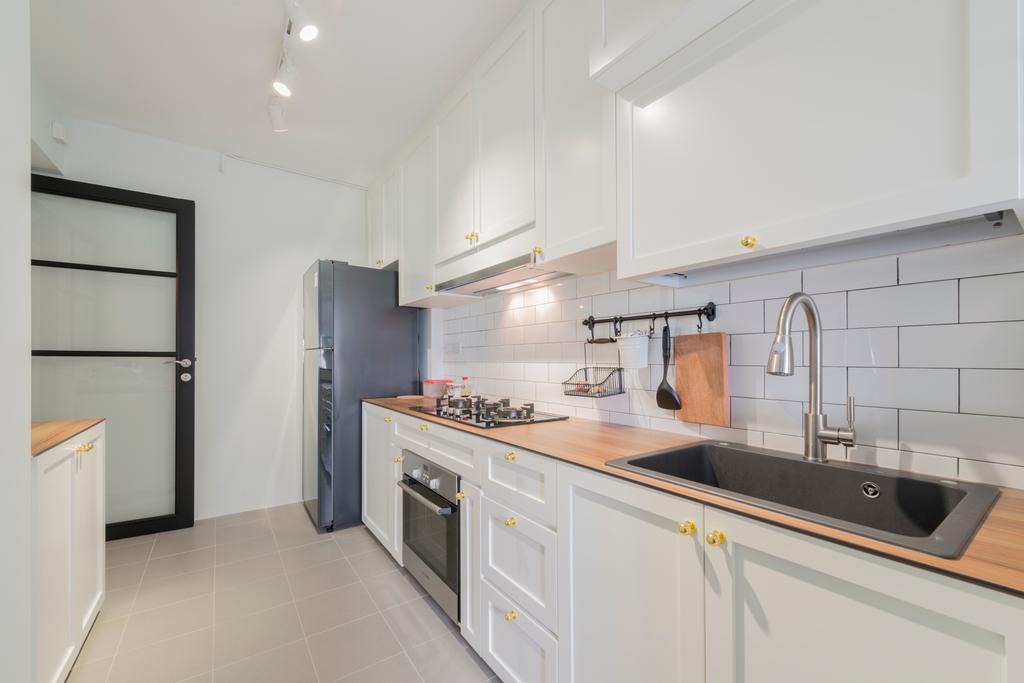 Scandinavian, HDB, Kitchen, Keat Hong, Interior Designer, The Local INN.terior 新家室, Indoors, Interior Design, Room