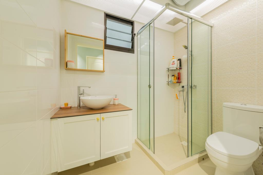 Scandinavian, HDB, Bathroom, Keat Hong, Interior Designer, The Local INN.terior 新家室, Toilet, Indoors, Interior Design, Room, Shelf