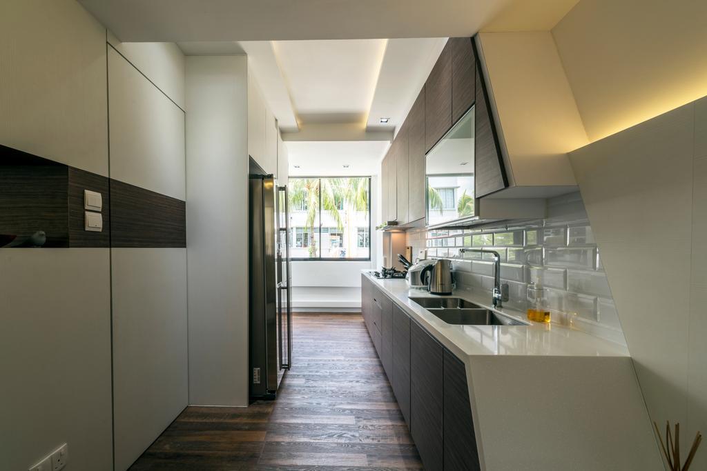 Contemporary, HDB, Kitchen, Kim Cheng Street, Interior Designer, Metamorph Design, Sink, Building, Housing, Indoors, Loft, Interior Design